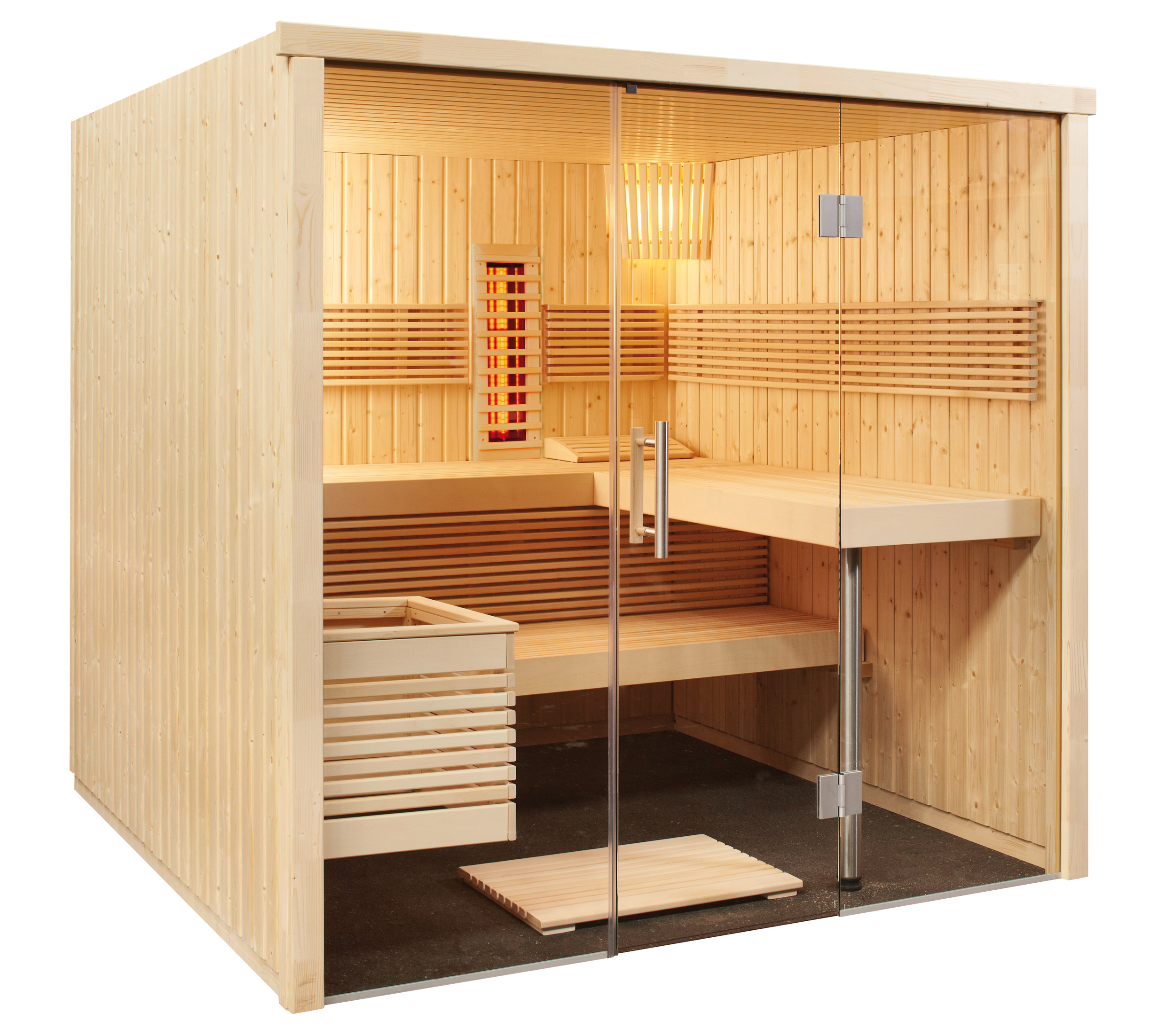 sentiotec produkte sentiotec sauna sauna kabinen panorama. Black Bedroom Furniture Sets. Home Design Ideas
